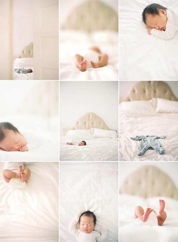Фотосессия новорожденных девочек в домашних условиях