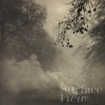 Burning Leaves, Kensington Gardens, Vintage Photography, Surface View