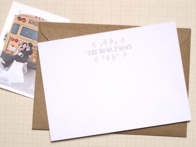 Free printable notecards, newlyweds