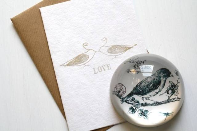 Denote Love cards and paper weight