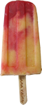 Apricot melba ice lolly