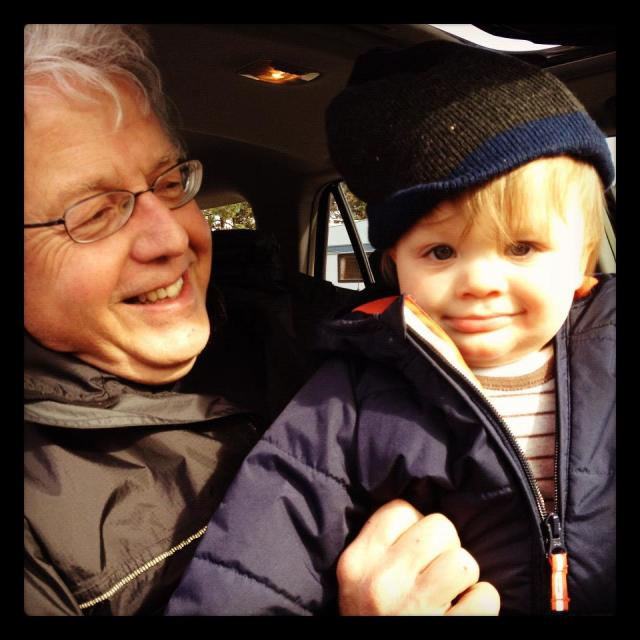 Dad and Oscar