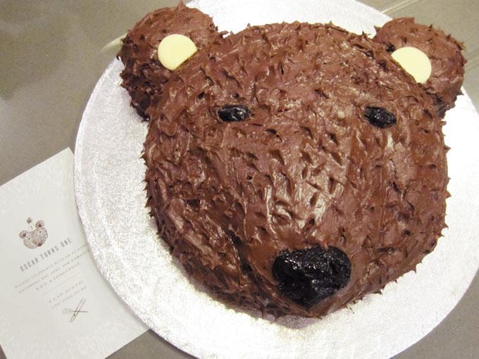 A Bear Birthday Cake - Bear birthday cake